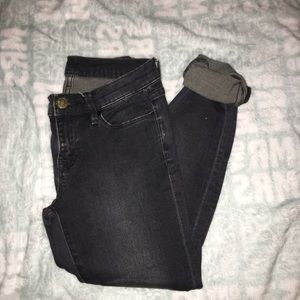 BDG Washed Black Twig Mid Rise Jeans